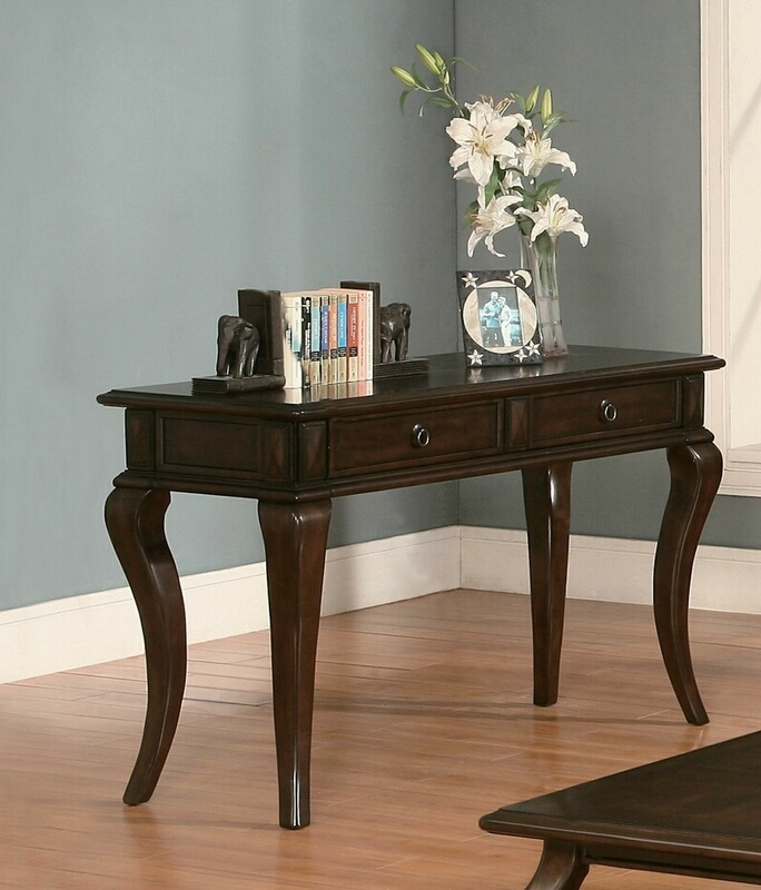 Acme 80014 Amado walnut finish wood sofa entry console table
