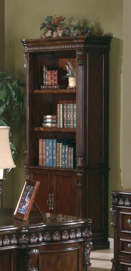800803 Magnussen broughton hall tucker rich brown finish wood office bookcase