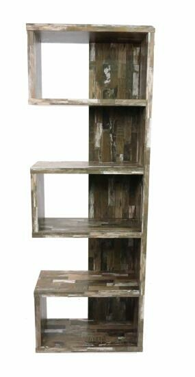 CST800847 Wilmington cabin collection salvaged cabin finish wood book case