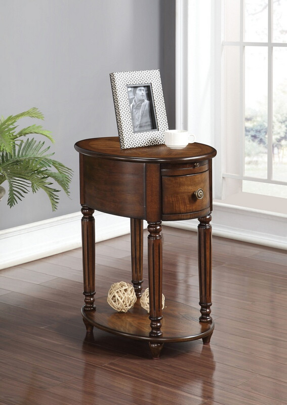 Acme 80506 Peniel dark oak finish wood chair side end table with drawer