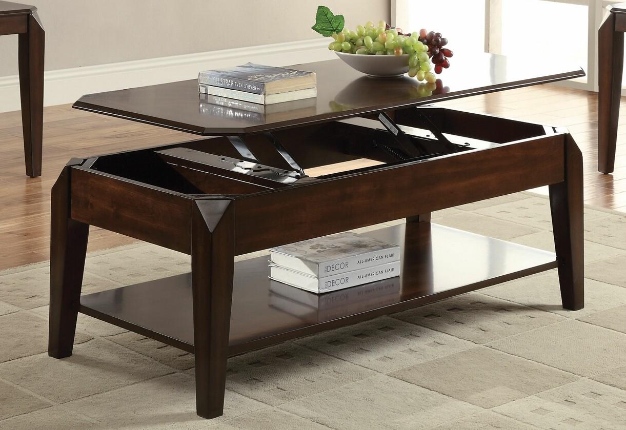 Acme 80660 Darby home co palou docila walnut finish wood lift top coffee table