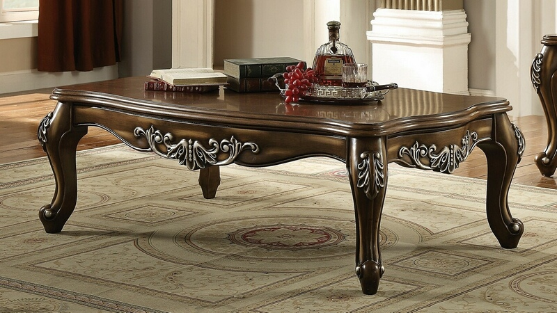 Acme 82115 Astoria grand simpson latisha antique oak finish wood coffee table