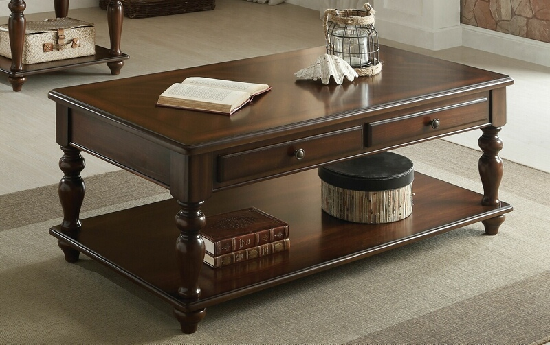 Acme 82745 Farrel Walnut Finish Wood Lift Top Coffee Table With Drawers