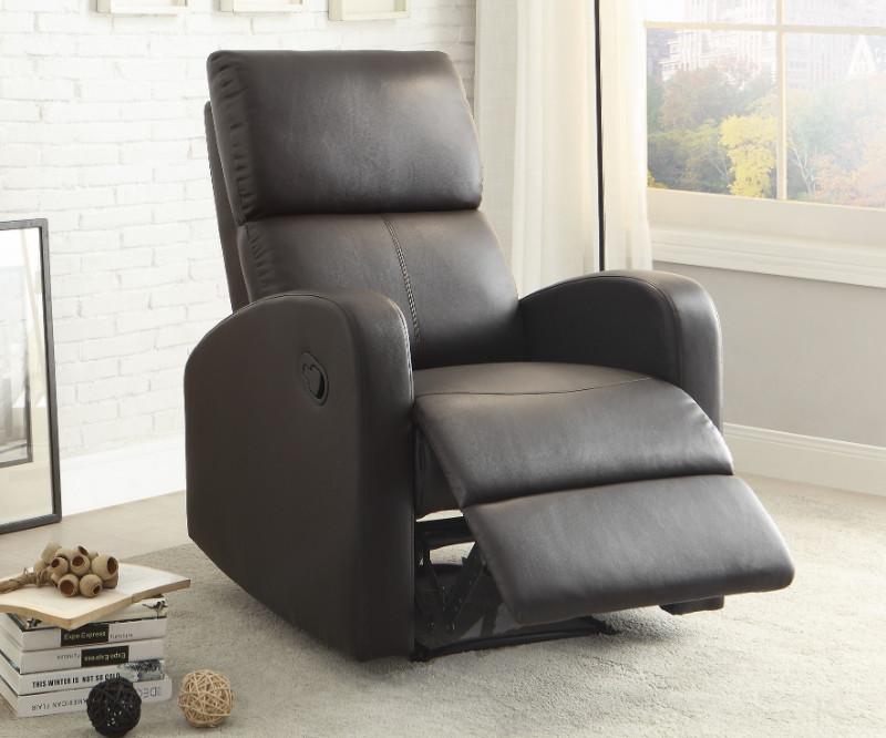 Mendon dark brown bi-cast vinyl recliner chair