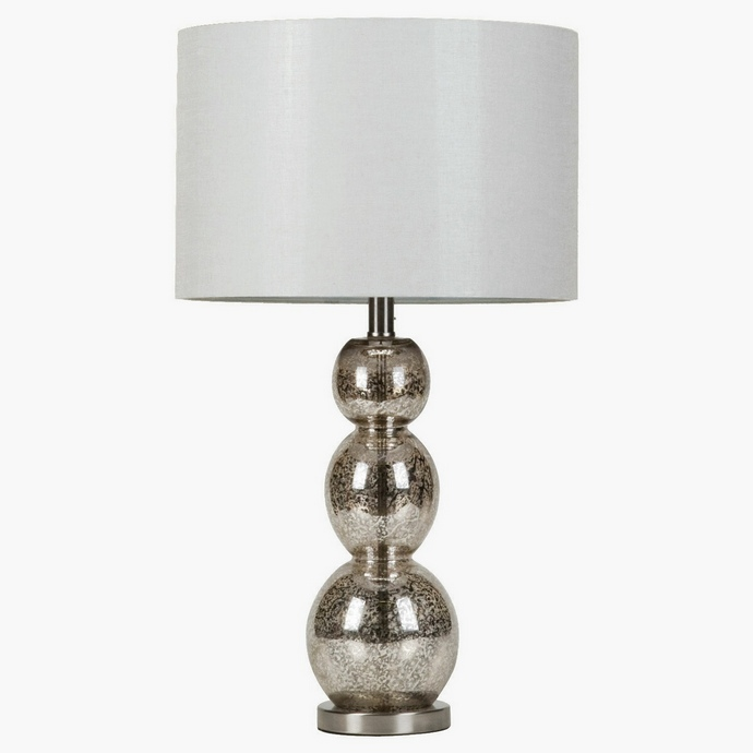 CST901185 Contemporary Style Mottled Tortoiseshell Finish Table Lamp with Unique Sphere Shape Base