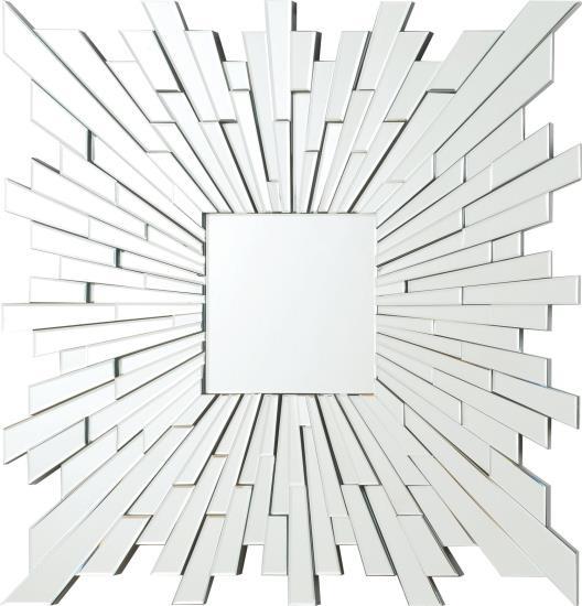 CST901785 Squared star sun multi piece frameless decorative wall mirror