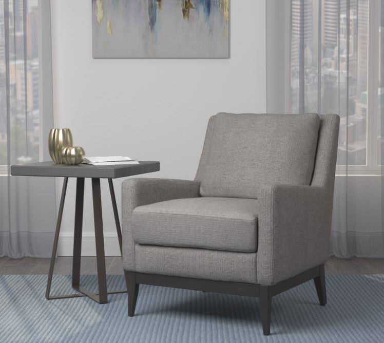 905531 Leigh upon mendip warm grey linen like fabric mid century modern accent side chair