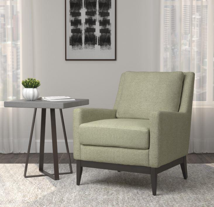 905533 Leigh upon mendip sage green linen like fabric mid century modern accent side chair