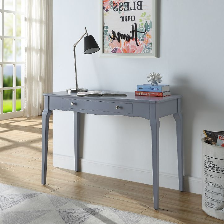 Acme 93019 Beachcrest home andrey alsen grey finish wood student writing desk with drawer
