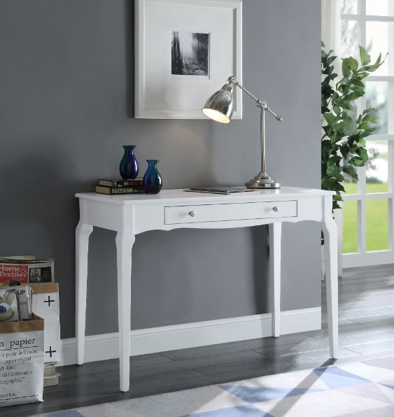 Acme 93023 Beachcrest home andrey alsen white finish wood student writing desk with drawer