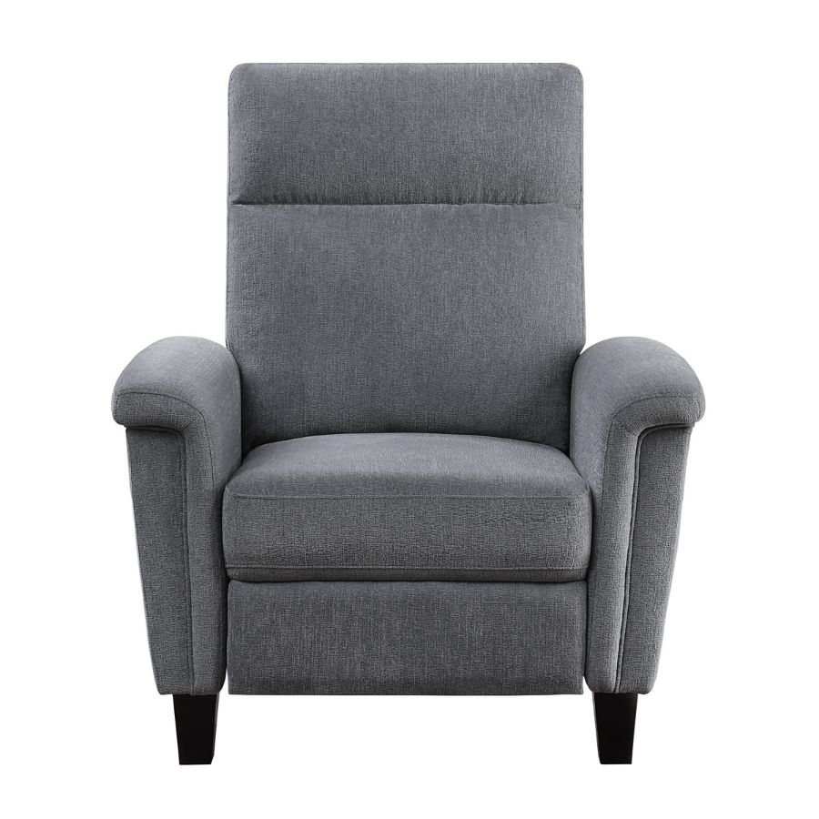 Homelegance 9400CNGY-1 Weisrer grey chenille fabric push back recliner chair