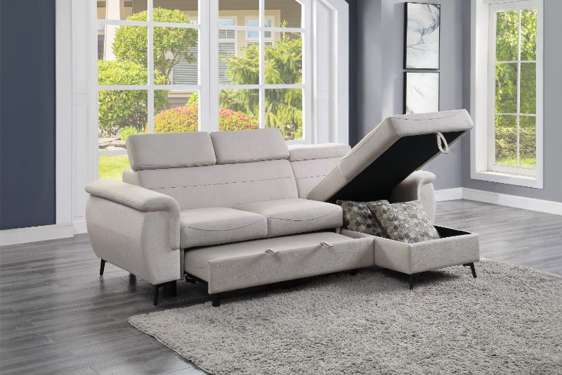 9403BE-SC Winston porter cadence beige fabric reversible sectional sofa with storage chaise