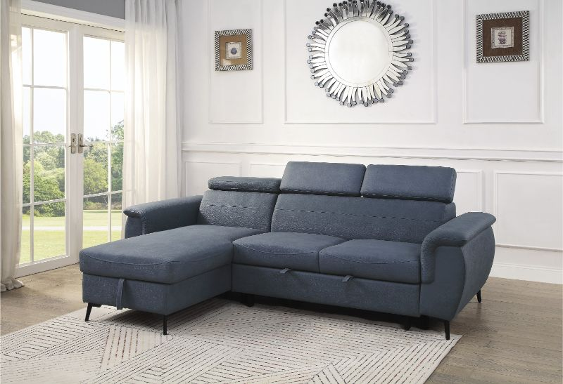 9403BU-SC Winston porter cadence blue fabric reversible sectional sofa with storage chaise