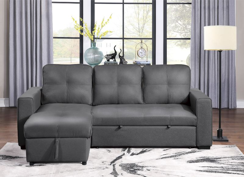 9569NFGY-SC Winston porter medina gray fabric storage chaise reversible sectional sofa