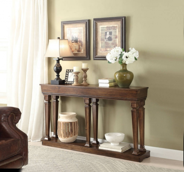 ACM97252 Garrison ii collection oak finish wood console entry table