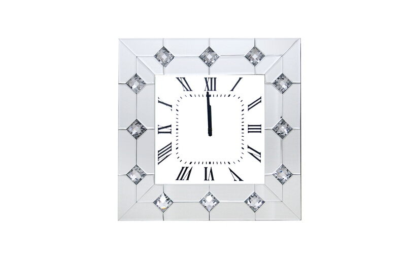 Acme 97406 Hessa mirrored front and diamond shapes wall clock