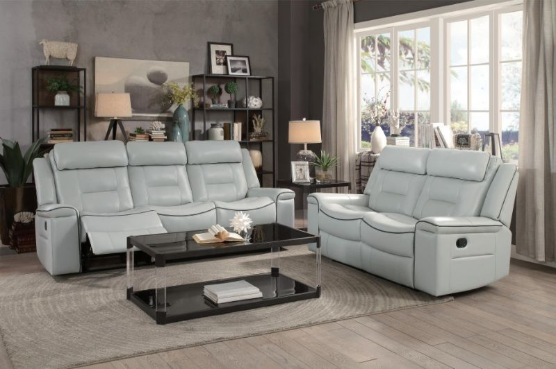 Brilliant He 9999Gy 2Pc 2 Pc Darwan Light Gray Leather Gel Match Sofa And Love Seat Set Lay Flat Recliner Ends Bralicious Painted Fabric Chair Ideas Braliciousco