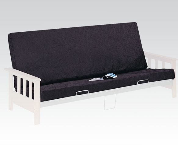 "ACM02802 Alfonso Black on black 6"" thick full size futon mattress pad"