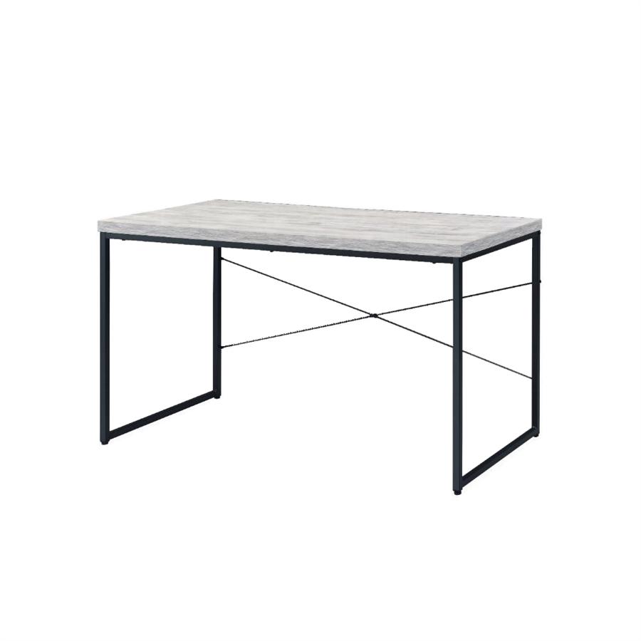 Acme 92915 Mercer 41 micah jurgen antique white and black finish wood metal frame desk