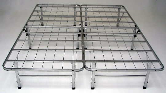 HB-BB1460CK Cal king size bedder base complete folding mattress support system platform bed frame