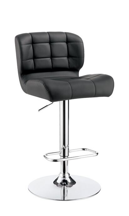 CM-BR6152GY Kori collection contemporary style gray tufted back padded leatherette and chrome adjustable bar stool
