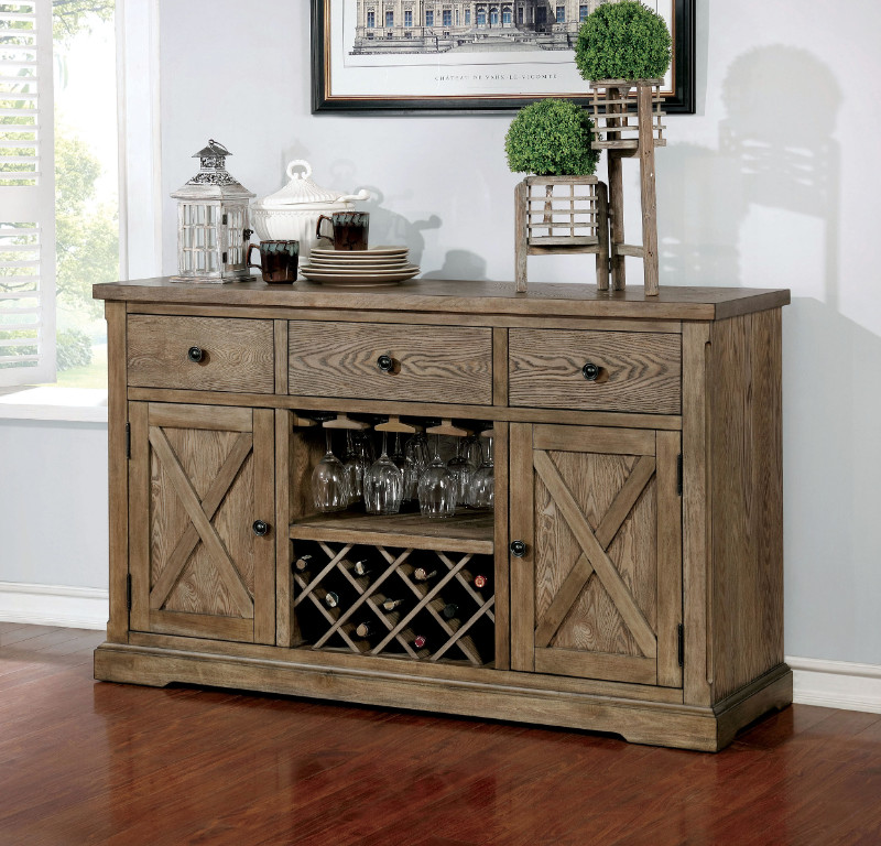 Rustic style furniture Solid Wood Furniture Of America Cm3014sv Julia Rustic Natural Tone Finish Wood Rustic Style Sideboard Server Amb Furniture And Design Cm3014sv Julia Rustic Natural Tone Finish Wood Rustic Style