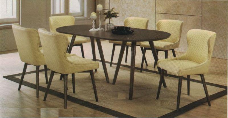 CM3781T-80SC-7PC 7 pc Brayden studio aniya I gray finish wood mid-century modern oval dining table set