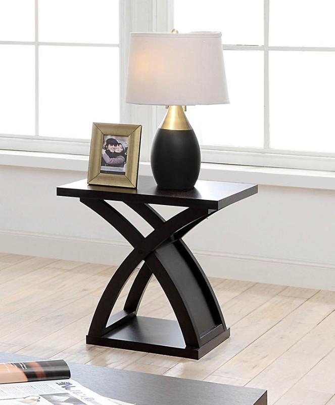 Furniture of america CM4641E Arkley espresso finish wood end table