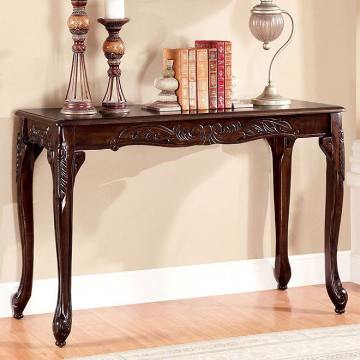 CM4914S Cheshire collection dark cherry finish wood sofa console entry table