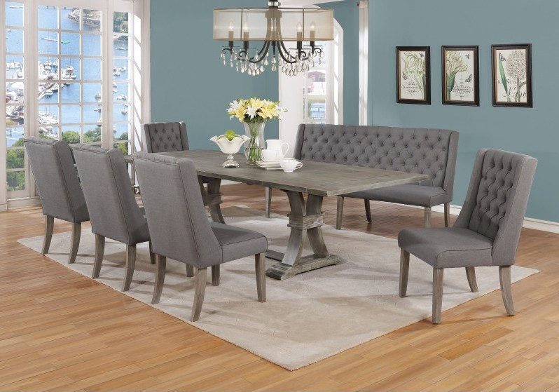 7 Piece Rustic Dining Room Set