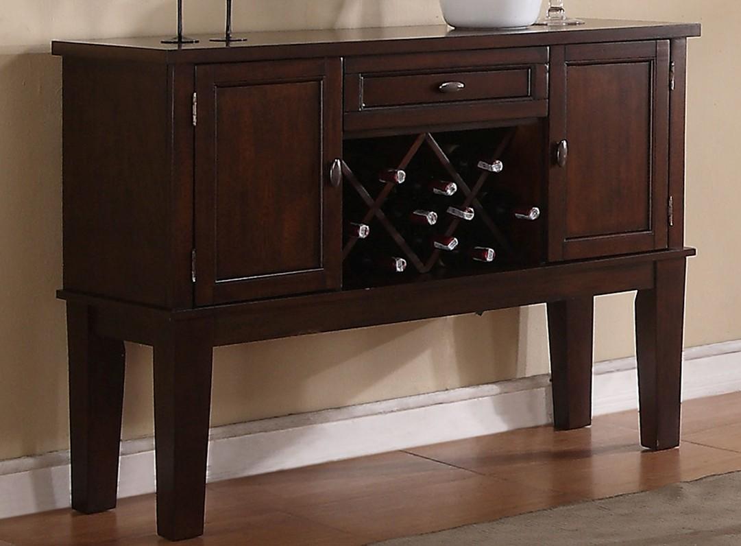 Poundex F6081 Adele maddison ii walnut finish wood dining server buffet console