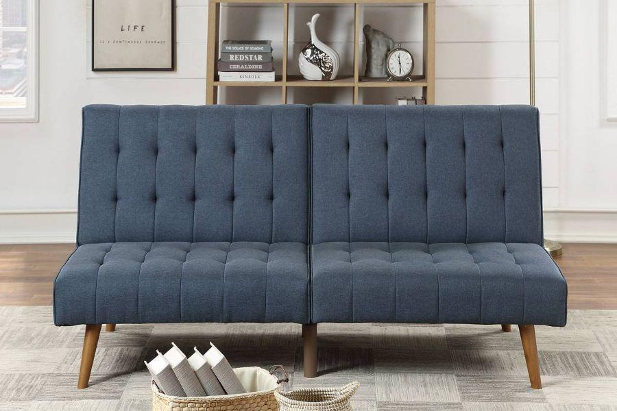 Poundex F8503 AJ homes studio lakeview winston porter kasen navy polyfiber sofa futon