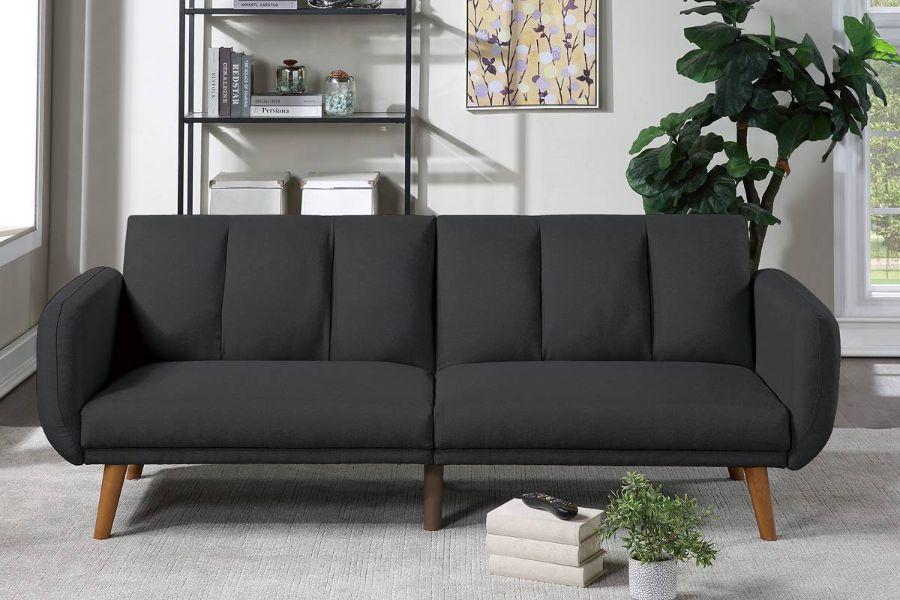 Poundex F8510 AJ homes studio lakeview winston porter kasen black polyfiber sofa futon