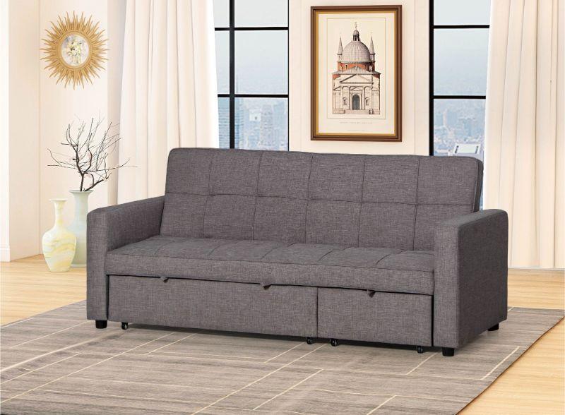 HM3840DGY Latitude run cadence dark grey fabric convertible sectional sofa  with chaise