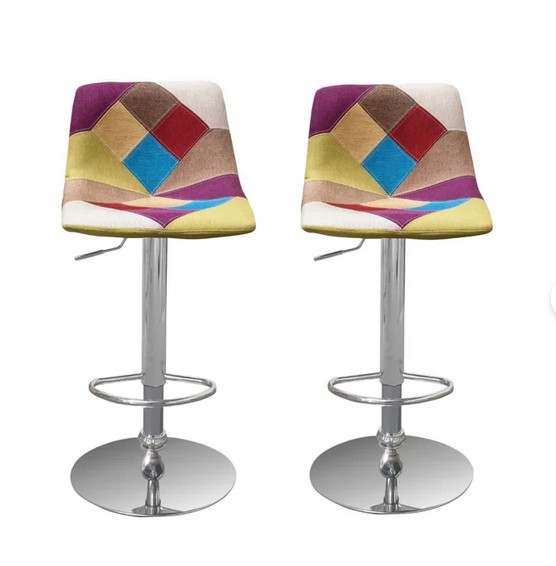 Best master HY3834-2PK Set of 2 Ebern designs macri multip color mid centrury modern chrome modern adjustable height bar stools