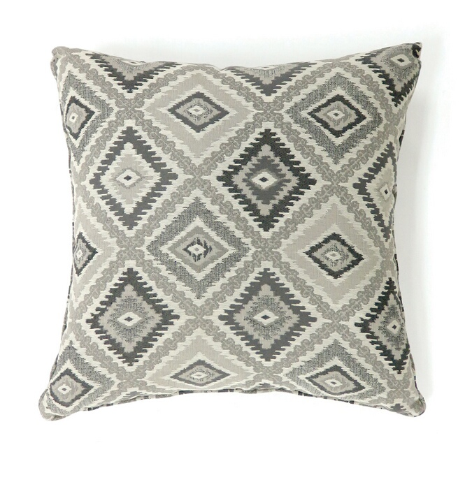 """PL6001GY Set of 2 deamund collection gray colored fabric 22"""" x 22"""" throw pillows"""