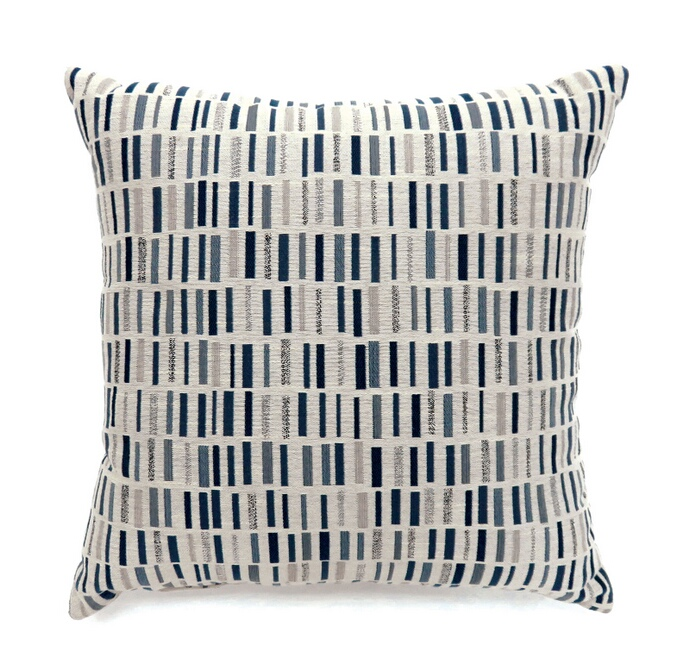 """PL6004BL Set of 2 pianno collection blue colored fabric 22"""" x 22"""" throw pillows"""