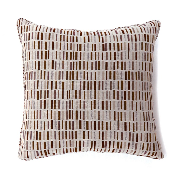 "PL6004BRS Set of 2 pianno collection brown colored fabric 18"" x 18"" throw pillows"