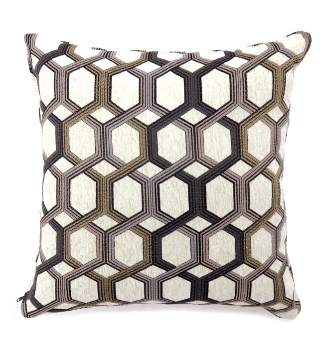 "PL6005GY Set of 2 comney collection gray colored fabric 22"" x 22"" throw pillows"