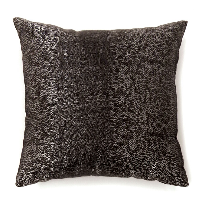 """PL6007 Set of 2 shale collection black colored fabric 18"""" x 18"""" throw pillows"""