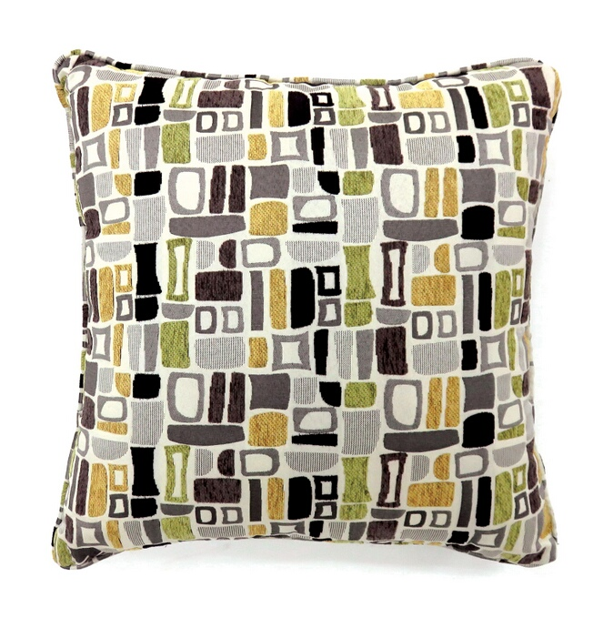 """PL6012 Set of 2 bloc collection multi colored fabric 22"""" x 22"""" throw pillows"""