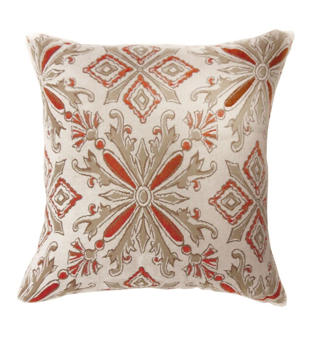 """PL672S Set of 2 lela collection multi colored fabric 18"""" x 18"""" throw pillows"""