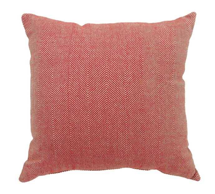 "PL688S Set of 2 jill collection red colored fabric 18"" x 18"" throw pillows"