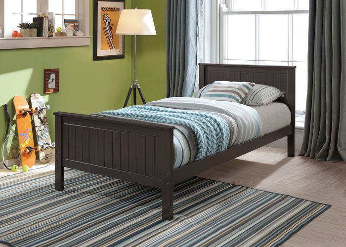 Acme BD00494 Harriet bee Bungalow chocolate finish wood twin bed
