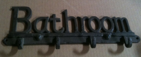cb-3046 Cast iron bathroom hook wall hanger