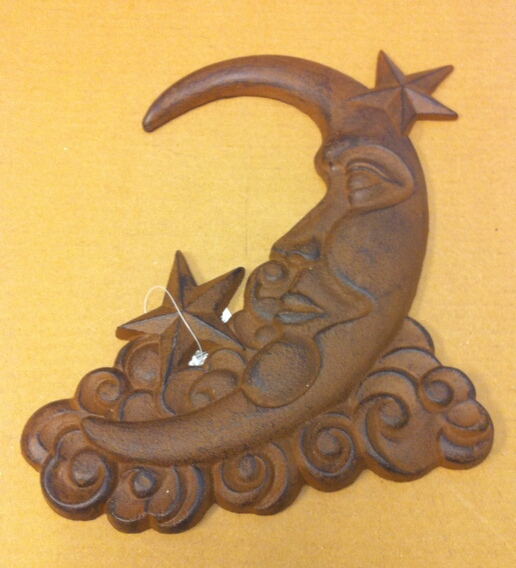 chibp-290 Cast iron moon and stars wall hanger