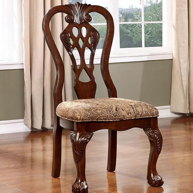 CM3212SC Set of 2 Astoria grand singletary elana brown cherry finish wood side chairs