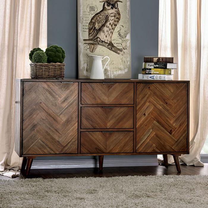 CM3346SV Burnside union signe light oak finish wood dining server buffet console cabinet