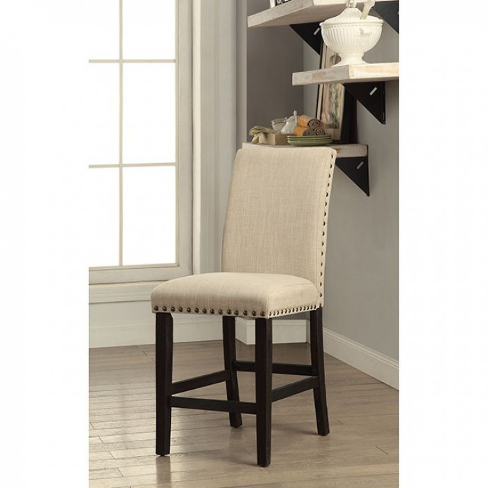 CM3466PC-2PK Set of 2 Dodson II black finish wood counter height bar chairs