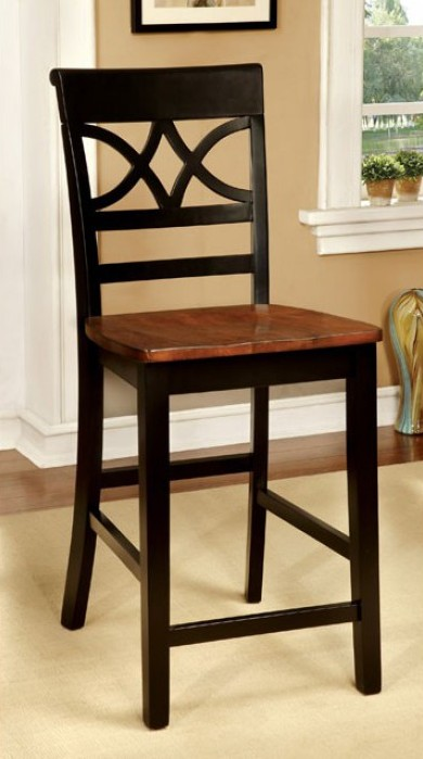 CM3552BC-PC-2PK Set of 2 Hokku designs exenia torrington ii two tone vintage black oak finish wood counter height dining chairs